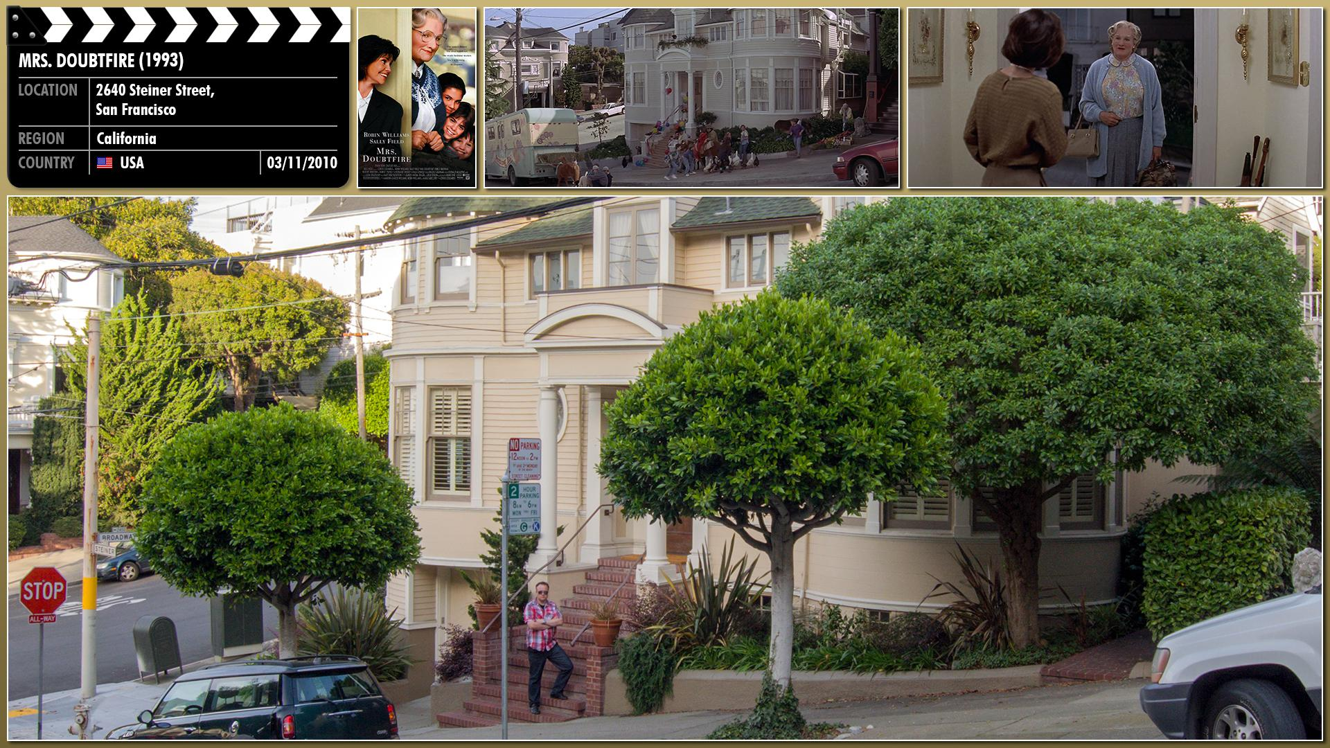 Filming location photo for Mrs. Doubtfire (1993) 1 of 1